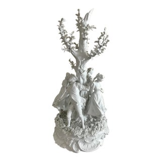 Large Porcelain Centerpiece Sculpture, Von Schierholz, Nymphenburg, Ginori Quality For Sale