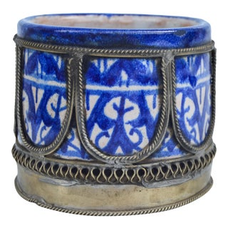 Blue Moroccan Catchall For Sale