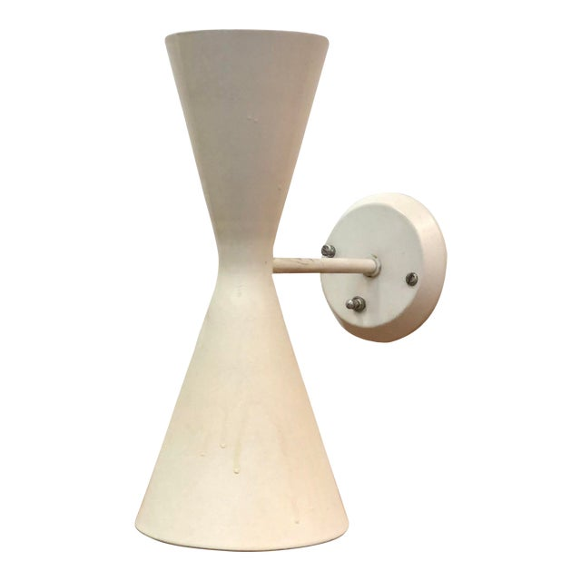 Vintage Mid-Century Gotham Lighting Diabolo Style Wall Sconce For Sale