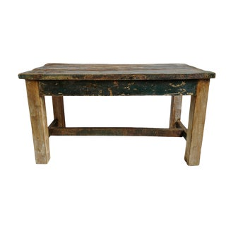 Vintage Farm Work Table For Sale