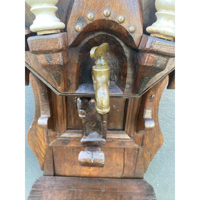 19th C. European Folk Art Sculpture /Dispenser For Sale - Image 4 of 13