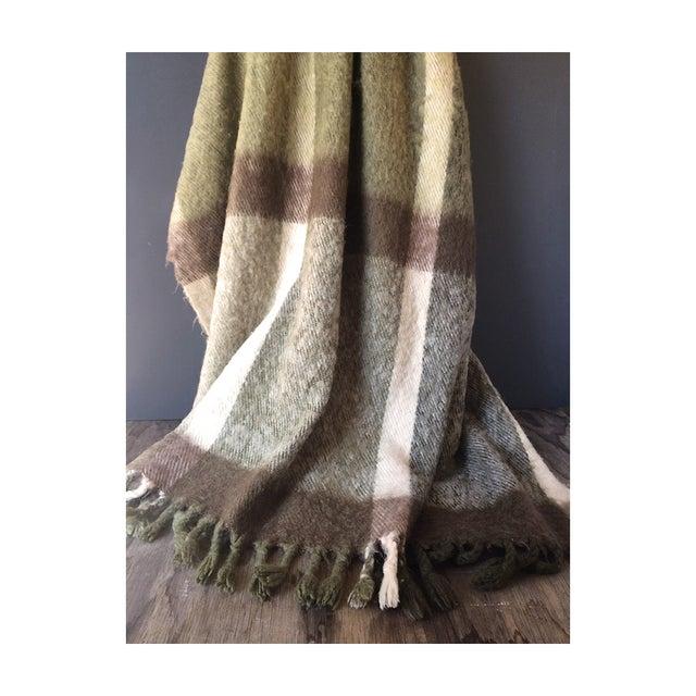 Lodge Metsovaara Scandinavia Wool Mohair Blanket For Sale - Image 3 of 6