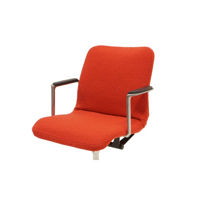 1960s George Nelson Desk or Office Chair, Very Rare, New Red Boucle Knoll Upholstery For Sale - Image 5 of 8