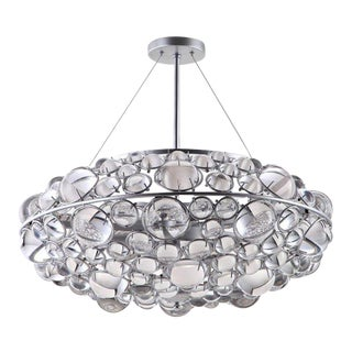 Modern Round Bilboa Crystal Chandelier For Sale