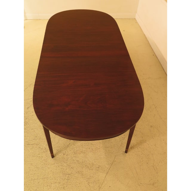 Henkel Harris Inlaid Federal Mahogany Dining Room Table For Sale - Image 10 of 13