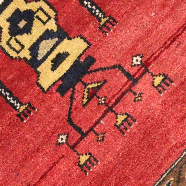 Vintage Turkish Oushak Rug with Modern Style -- 2'10 x 2'10 - Image 4 of 6
