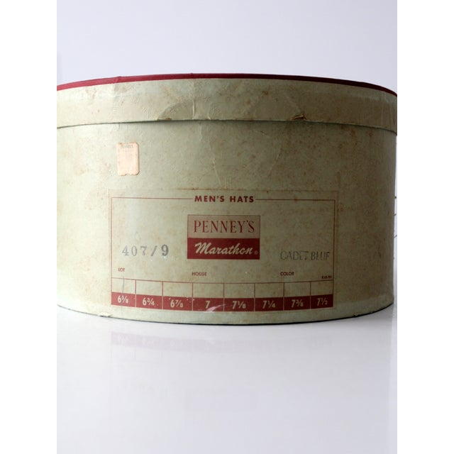 1950s Penney's Hat Box For Sale - Image 6 of 8