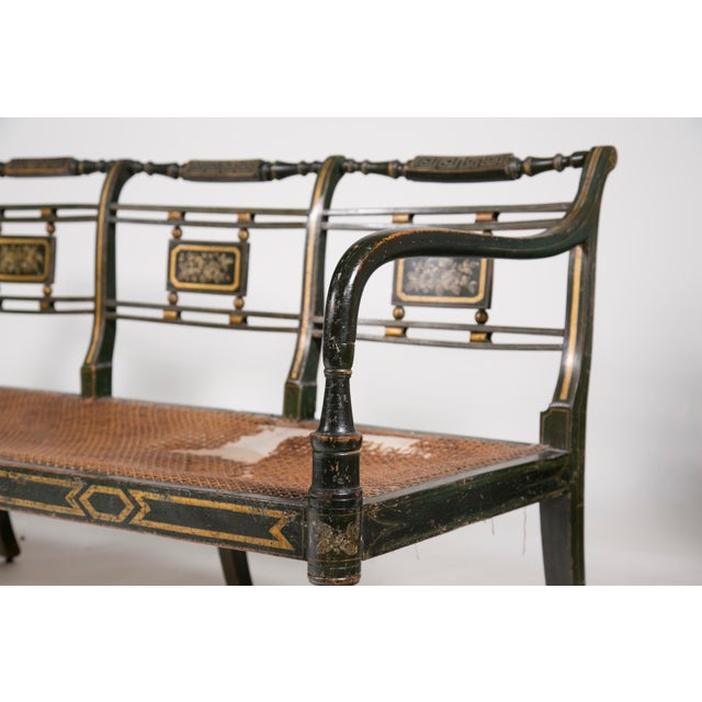 19th Century Rare Regency Period Painted Settee For Sale In San Francisco - Image 6 of 6