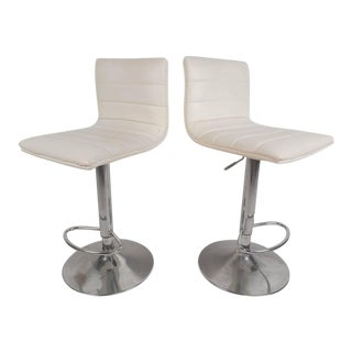 Mid-Century Modern Adjustable Bar Stools For Sale