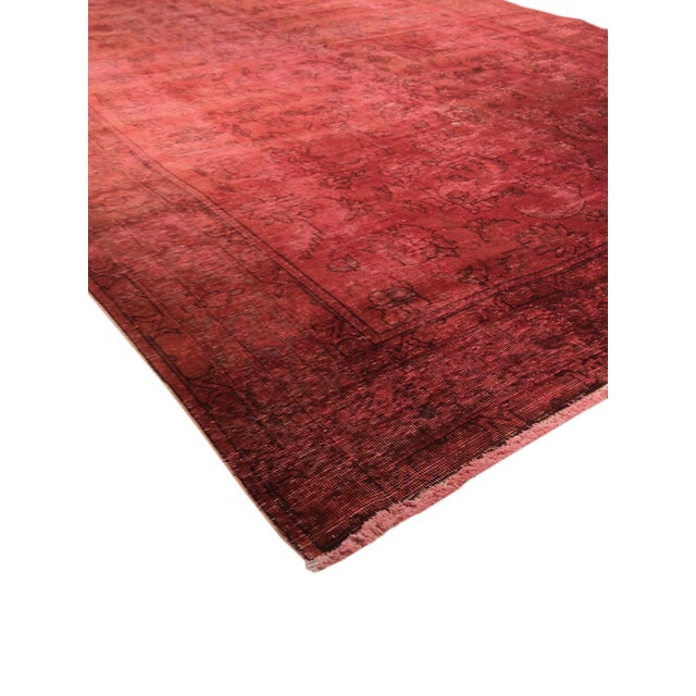 """Pink Vintage Overdyed Rug - 8' 1"""" X 10' 4"""" - Image 2 of 3"""