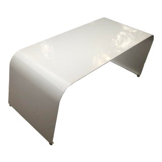 Modern Steel Waterfall Coffee Table For Sale