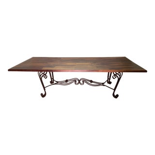 Rustic Plank Conference Table For Sale