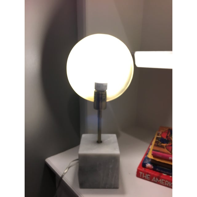 Modern Marble & Metal Directional Table Lamp - Image 6 of 8