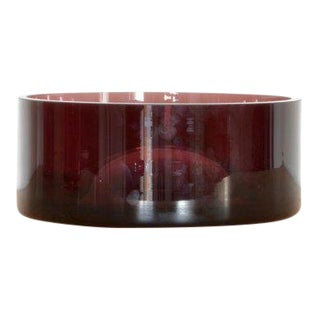 Klaar Prims 'Upsdwn' Low Vase - Dark Violet For Sale