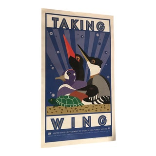 """Usfs Collectible """"Taking Wing"""" Poster"""