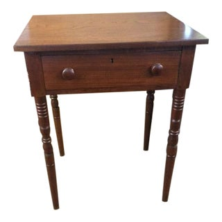C. 1840-1850 American Walnut One Drawer Stand