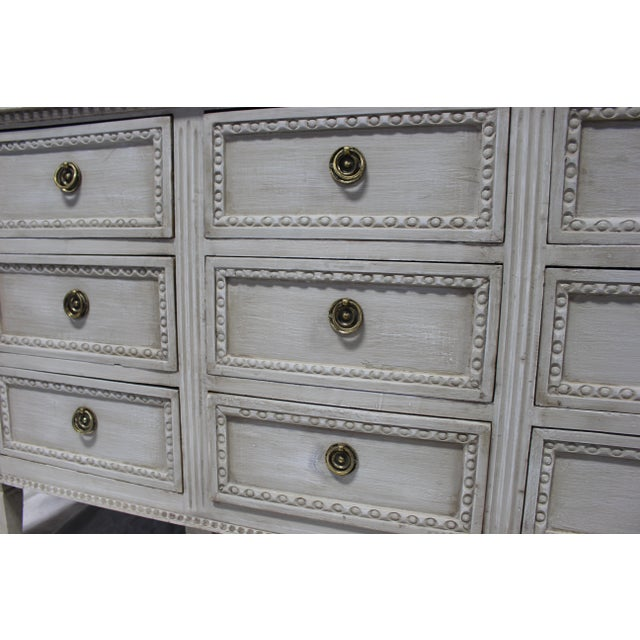 Early 20th Century 20th Century Nine Door Taupe Oak Gustavian Dresser For Sale - Image 5 of 8