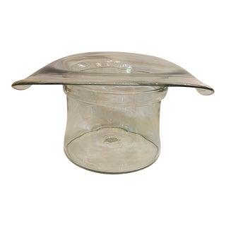 "Blenko ""Top Hat"" Blown Glass Champagne Chiller/Ice Bucket For Sale"