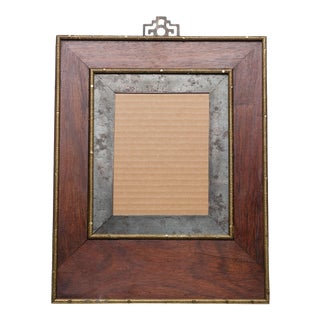 Vintage Asian Style Wood Photo Picture Frame For Sale