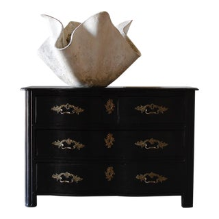 18th C. French Black Commode For Sale