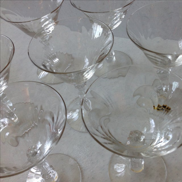 Cambridge Optic Crystal Cocktail Stemware For Sale - Image 9 of 11