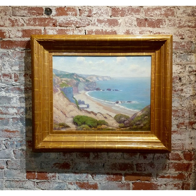 Charles L A Smith-Point Dume,Malibu c.1920s-California impressionist-Oil Painting For Sale - Image 10 of 10