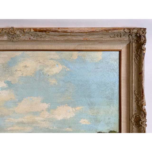 Sky Blue French Seascape Painting by Lois Clark, Framed For Sale - Image 8 of 13