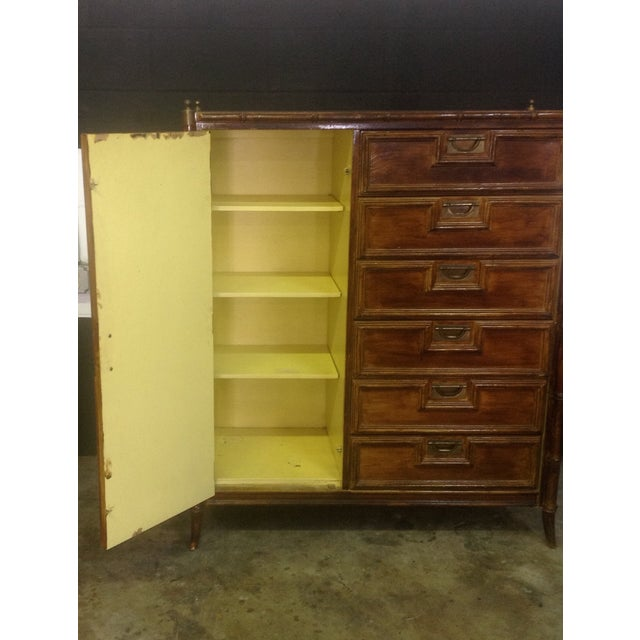 Stanley Faux Bamboo Dresser - Image 5 of 8