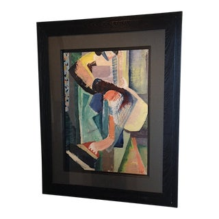Scribner Ames Abstract Figure Oil Painting circa 1930 For Sale