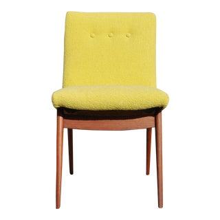 Vintage Mid Century Solid Walnut Vladimir Kagan Chair For Sale