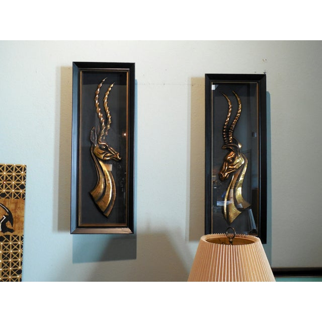 Hollywood Regency Gazelle Shadow Boxes - A Pair - Image 7 of 8