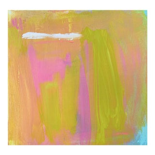 """Reflection"" by Trixie Pitts Mini Abstract Expressionist Minimalist Oil Painting For Sale"