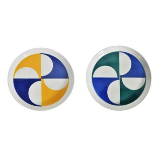 Gio Ponti for Franco Pozzi Ceramic Plates For Sale