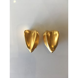 Donna Karan Gold Tone Clip Earrings Preview
