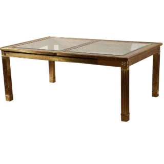 1970s Hollywood Regency Expandable Dining Table For Sale