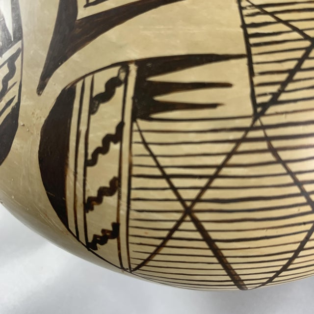 Southwest Hand Painted Migration Seed Jar by Elva Nampeyo For Sale - Image 9 of 13