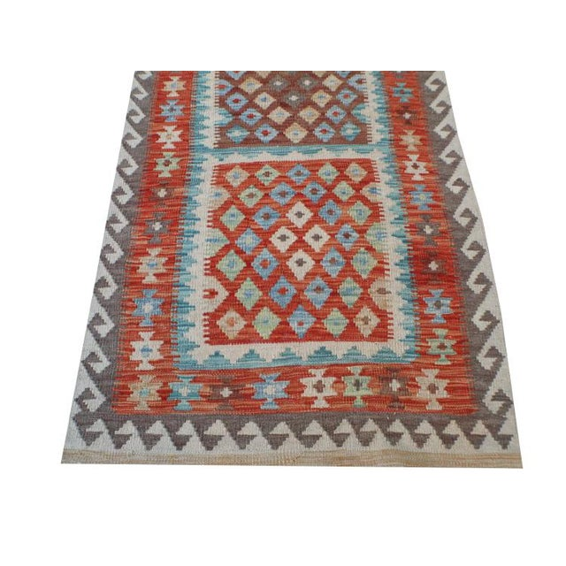 Handmae Vegetable Dyed Kilim Runner- 2′9″ × 9′6″ - Image 2 of 5