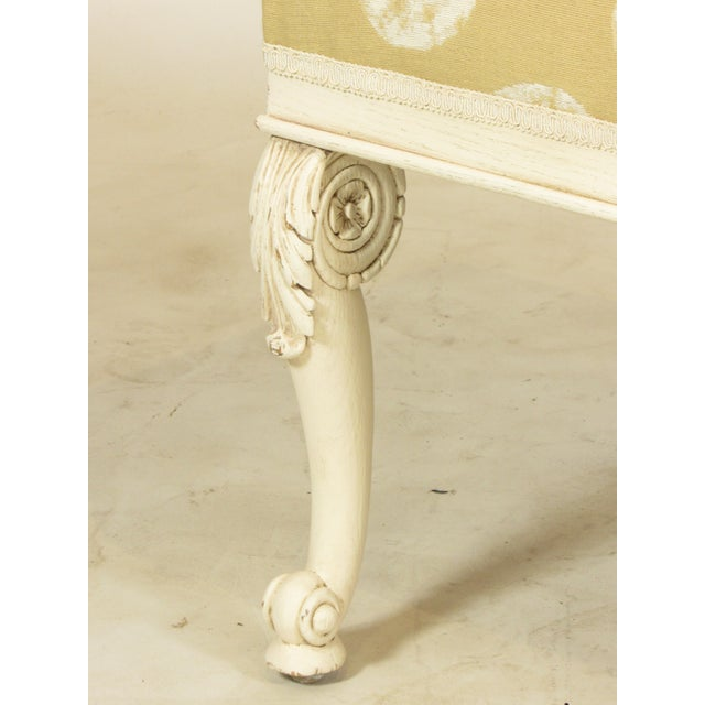 Beech 19th C. French Painted Bench For Sale - Image 7 of 11