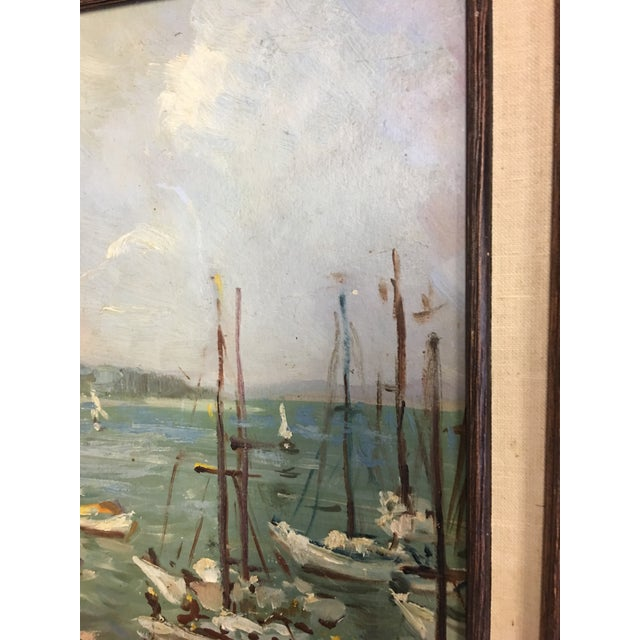 Ivan Denysenko Harbor Painting For Sale In New York - Image 6 of 9
