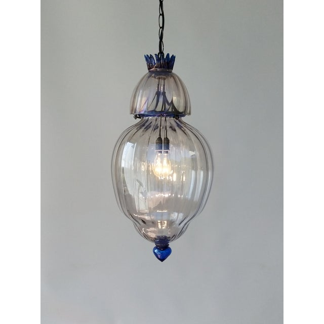 Murano Large Art Deco Murano Glass Lantern For Sale - Image 4 of 7