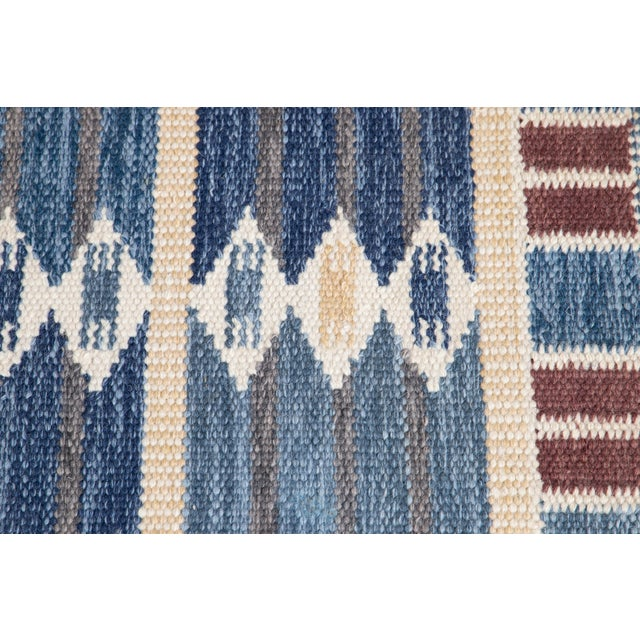 21st Century Modern Swedish Style Wool Runner Rug For Sale In New York - Image 6 of 13