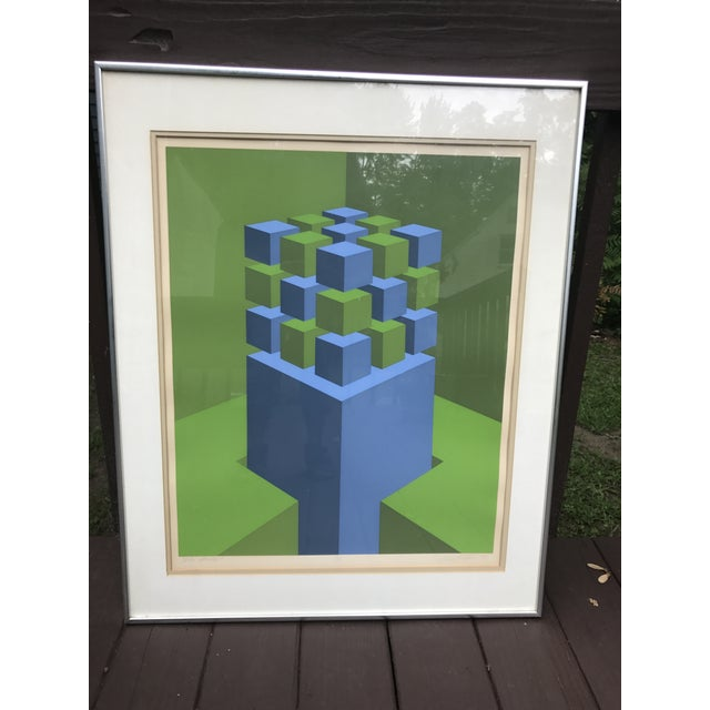 """Marko Spalatin 1971 Serigraph """"Cubes Devoted"""" Signed and Numbered - Image 2 of 9"""