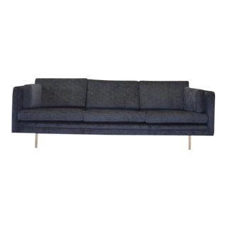 Navy Knoll Style Sofa