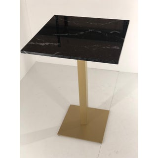 New Bistro High Table in Gilded Wrought Iron With Black Marble Top Preview
