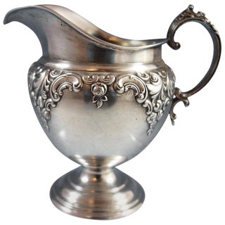 Grande Baroque by Wallace Sterling Silver Creamer #4851-9 For Sale