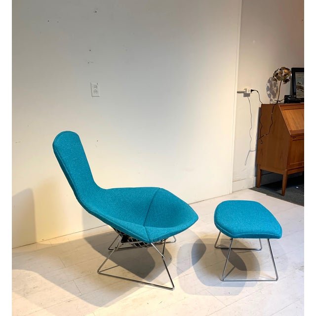 Knoll 1950s Mid-Century Bird Chair and Ottoman Harry Bertoia for Knoll For Sale - Image 4 of 8