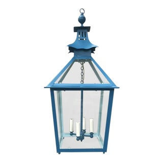 Pagoda Top Tole Pendant Lantern For Sale