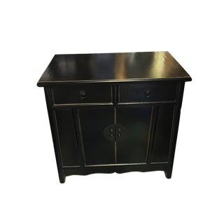 Superb Beijing Asian Black Lacquer Chest For Sale