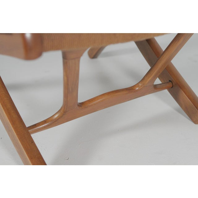 Wood Final Markdown 1960s Hans Wegner Style Folding Rope Lounge Chairs- a Pair For Sale - Image 7 of 10