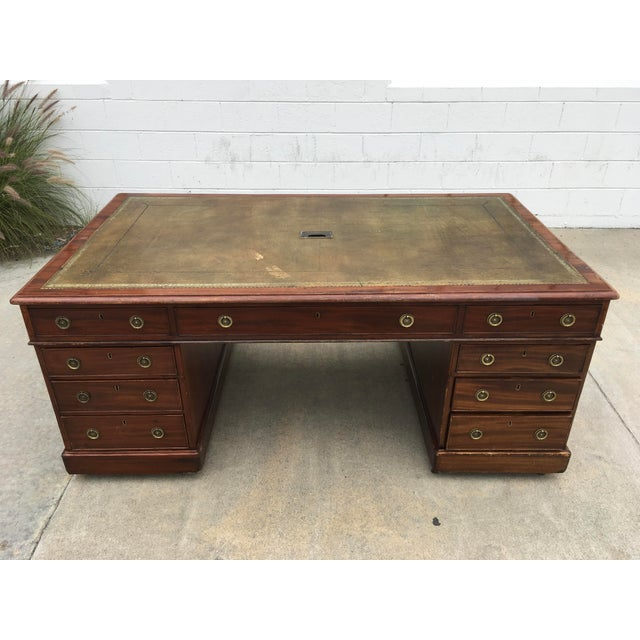 19th Century English Chubb & Son Partners Desk For Sale - Image 13 of 13